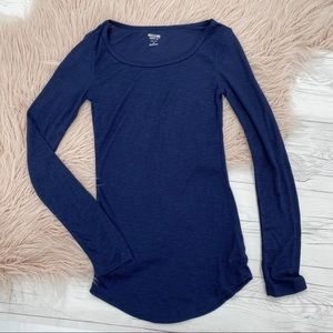 Mission Navy Blue Long Sleeve